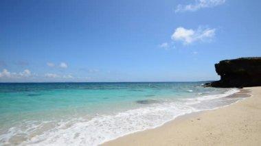 Okinawa güzel bir plaj — Stok video