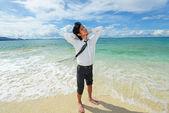 Man enjoy the sun. — Stock Photo