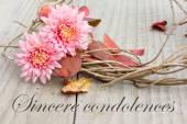 Sincere condolences — Stock Photo