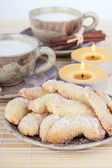 Vanilla crescents — Stock Photo