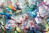 Abstract grunge background with red, green and blue color — Stock Photo