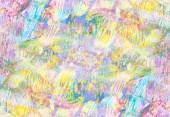 Art abstract pale rainbow oil pattern background in pink, yellow — Stock Photo