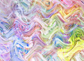Art abstract pale rainbow oil pattern background in the shape of — Stock Photo