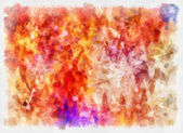 Art abstracted colorful watercolor pattern background in orange — Stock Photo