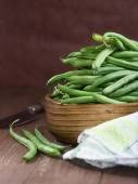 String beans in a bowl — Stock Photo