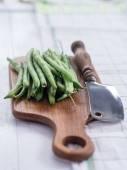 Fresh string beans, raw — Stock Photo
