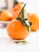Mandarins on a tray — Stock Photo
