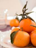 Mandarins on a plate — Stock Photo