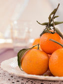 Mandarins on a plate — Stock Photo