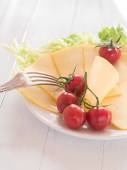 Cheese on a plate — Stock Photo