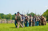 Confederates marching — Stock Photo