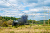 Steam train passing — Stock Photo