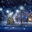Merry Christmas scene — Stock Photo #51995389