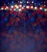 Christmas lights background. — Stock Photo