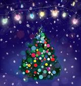 Julgran bakgrund — Stockvektor
