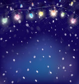 Сhristmas lights background. — Stock Vector