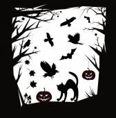 Vector Halloween cartoons  design elements. — Stock Vector