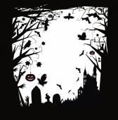 Vector Halloween horror background. — Stock Vector