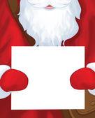 Santa Claus postman holding blank. — Vetorial Stock