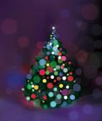 Resumen de árbol de Navidad. — Vector de stock