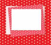 Polka dots frame — Stock Photo