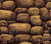 Seamless texture stones wall. — Stock Vector
