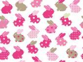 Seamless cute rabbits pattern — Διανυσματικό Αρχείο