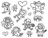 Cute angels cartoons — Stock Vector