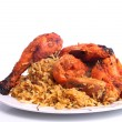 Постер, плакат: Tandoori chicken and chicken Biryani