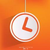 Clock web icon button — Stock Vector