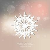 Elegant snowflake — Stock Vector