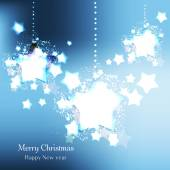 Elegant Christmas background with stars — Stock Vector