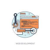 Flat repair icon. Mechanic service concept.  Web site creating. — Stock Vector