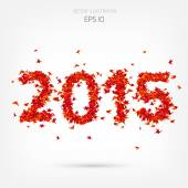 Origami paper bird on abstract background. 2015 year. — Stockvector