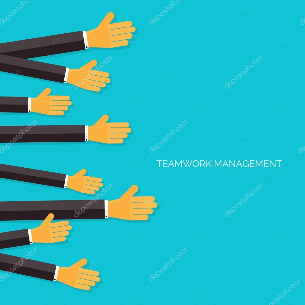 teamwork management concept flat icons global communication and teamwork management concept flat icons global communication and working experience business briefing