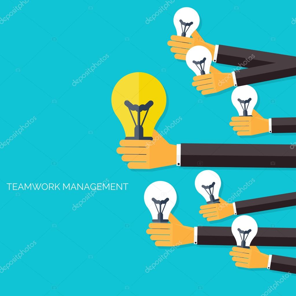 finding the main idea teamwork management concept flat icons global communication and working experience business briefing organization money making and analyzing vector by floral set