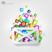 Message icon. Application button.Social media.Cloud computing. — Stock Vector