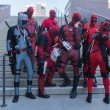 Постер, плакат: Participans with Deadpool costumes