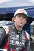 Travis pastrana på röda tjuren grc global rallycross — Stockfoto