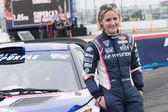 Emma Gilmour rally driver at the Red Bull GRC Global Rallycrosss — Foto de Stock
