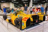 Honda-powered Ryan Hunter-Reay at the Orange County International Auto Show — Стоковое фото