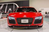 2015 Audi R8 Spyder at the Orange County International Auto Show — Stock Photo