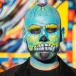 Unknown man at the 15th annual Day of the Dead Festival — Stock Photo #57115261