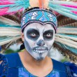 Unknown man at the 15th annual Day of the Dead Festival — Stock Photo #57115313