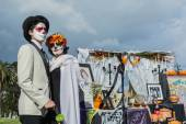 Unknown people at the 15th annual Day of the Dead Festival — Stock Photo
