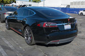 Tesla Model S at the Supercar Sunday Electric Vehicles — Stock Photo