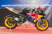 Red Bull Yamaha Yzf-R6 motorfiets — Stockfoto
