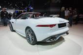 Jaguar F-Type convertible car on display — Stock Photo