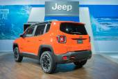 Jeep Renegade Trailhawk 2015 on display — Stock Photo