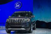 Ford Explorer 2015 on display — Stock Photo